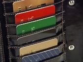 Fényképek hitel kártyák pénztárca