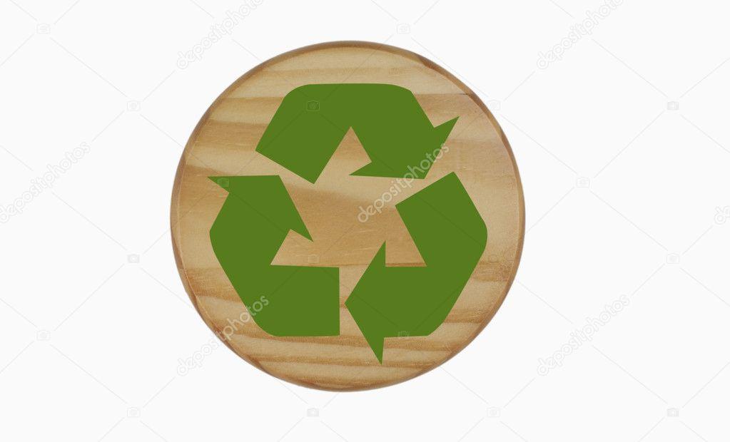 S mbolo del reciclaje de madera fotos de stock for Imagenes de reciclaje de madera