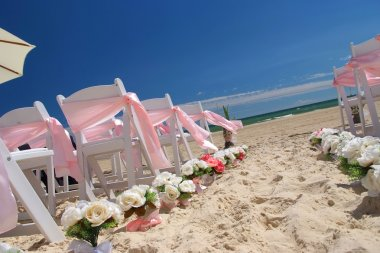 Wedding chairs stock vector