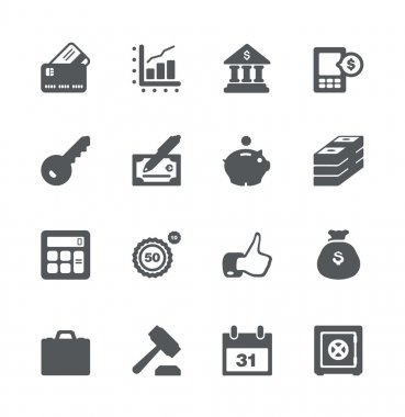 Finance and business icon set