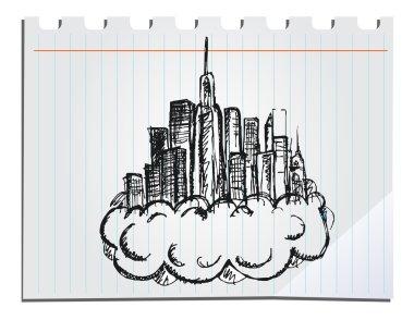 hand drawn skyscrapers