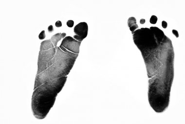 Infant's Footprint on white