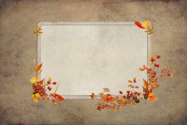 Autumn Frame with foliage