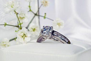 Diamond ring in satin box