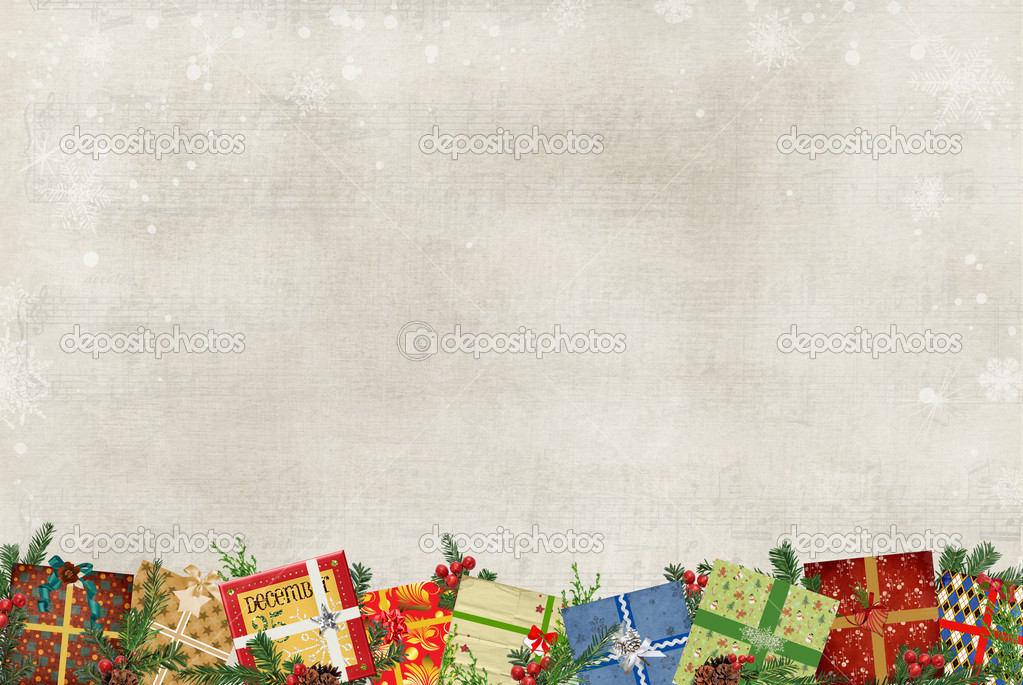 Christmas Gift border — Stock Photo © jentara #11243642