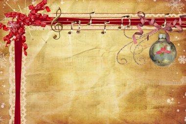 Christmas music border