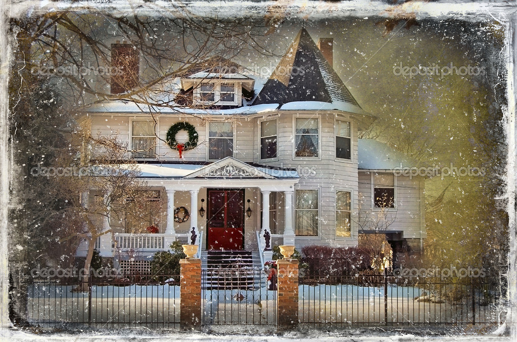 Victorian Christmas House — Stock Photo © jentara #11345514