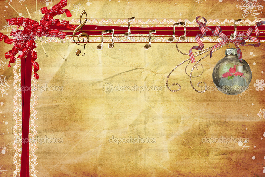 Christmas music border — Stock Photo © jentara #11345523