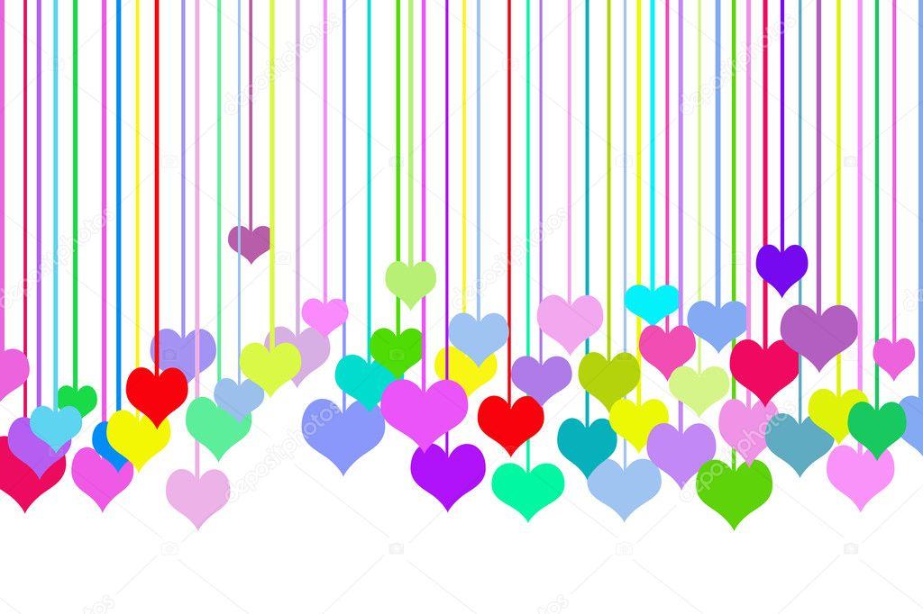 corazones de colores fondo - photo #6