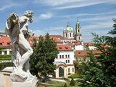Socha ve Vrtbovské zahradě, Praha, Česká republika