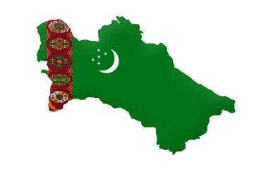 Republic of Turkmenistan map