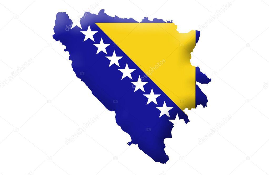 Karta Bosnien Och Hercegovina.Bosnien Och Hercegovina Karta Stockfotografi C Ludvigcz 11098006