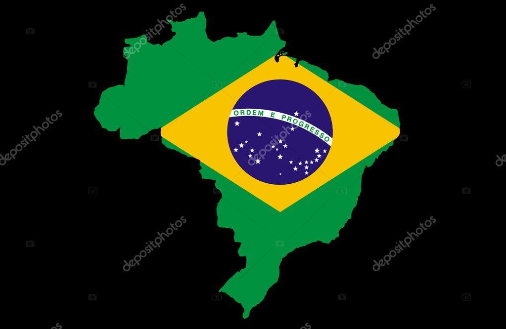 Federative Republic Of Brazil Map Stock Photo Ludvigcz - Federative republic of brazil map