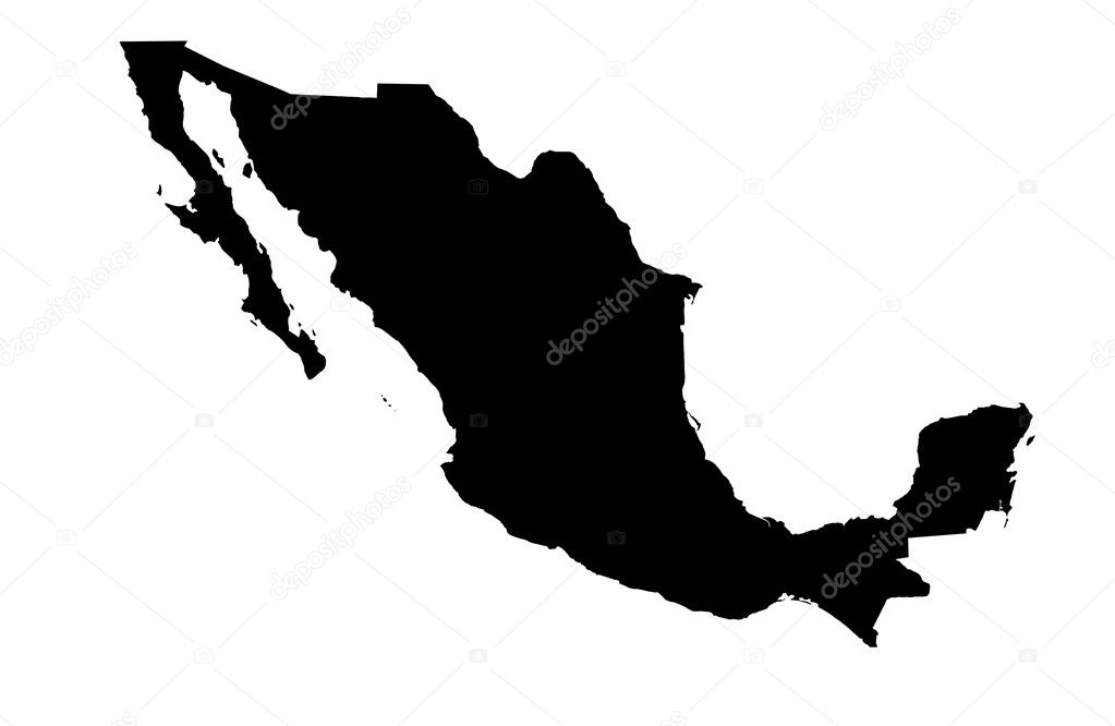 United Mexican States map — Stock Photo © Ludvigcz #11098484