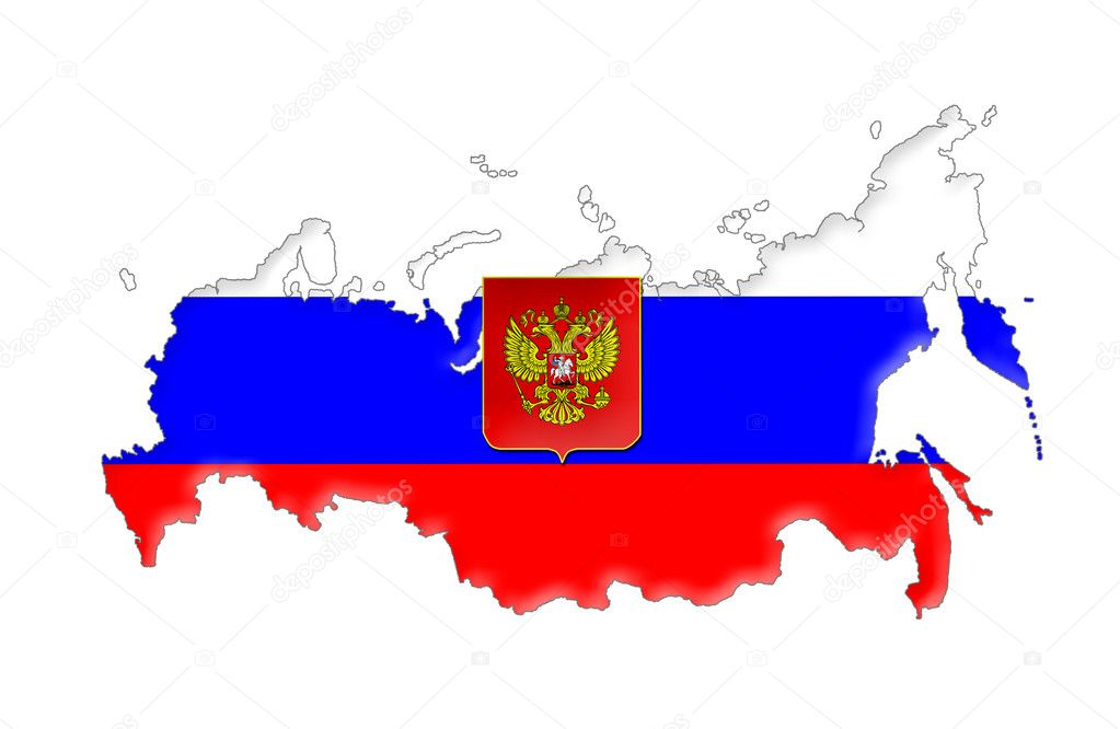 Russian Federation flag map — Stock Photo © Ludvigcz #11098921
