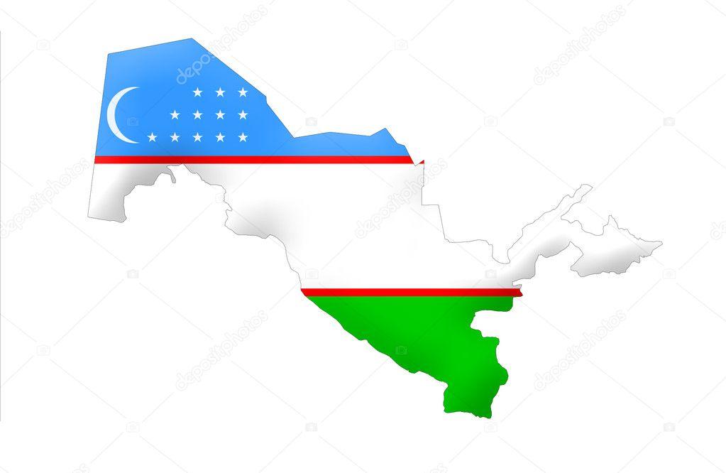 Republic of uzbekistan map foto de stock ludvigcz 11099488 republic of uzbekistan map foto de stock gumiabroncs Images