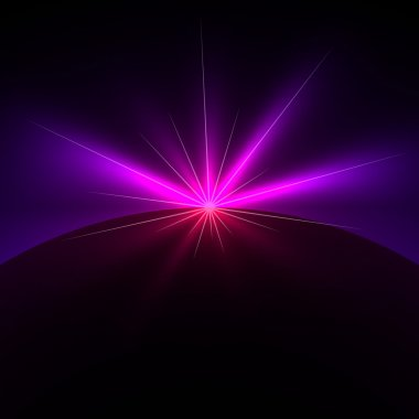 Space light flare vector background with copy space.