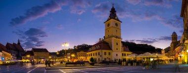 Brasov Council Square at twilight - Transylvania, Romania