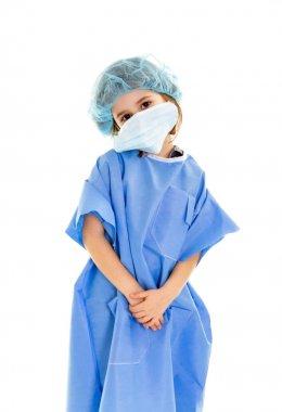 Child doctor white background stock vector