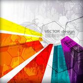 Ilustrované barevné rozložení s abstrakce