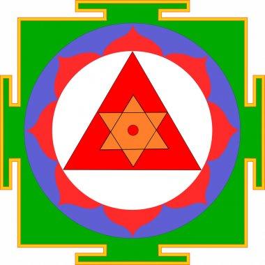 Sacred Yantra of Lord Ganesha stock vector