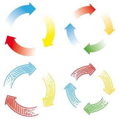Circular arrows