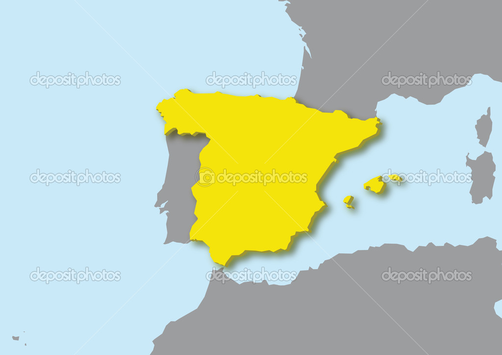 3d Map Of Spain.3d Map Of Spain Stock Photo C Robodread 11200223
