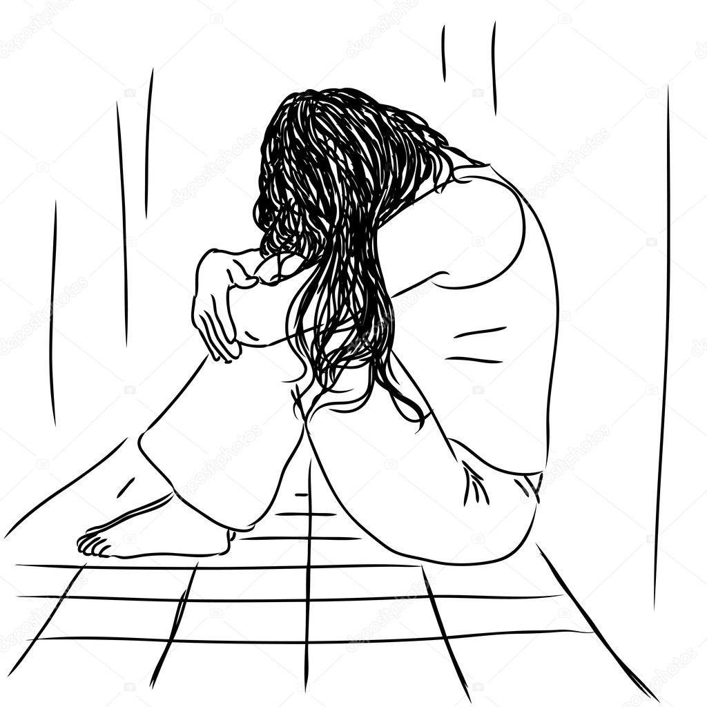 Sad Woman Stock Vector C Robodread 11216814