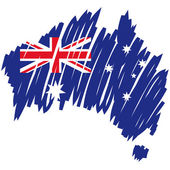 Map flag Australia