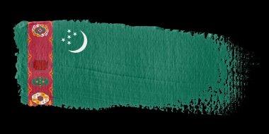 Brushstroke Flag Turkmenistan