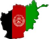 Fotografie Map flag Afghanistan