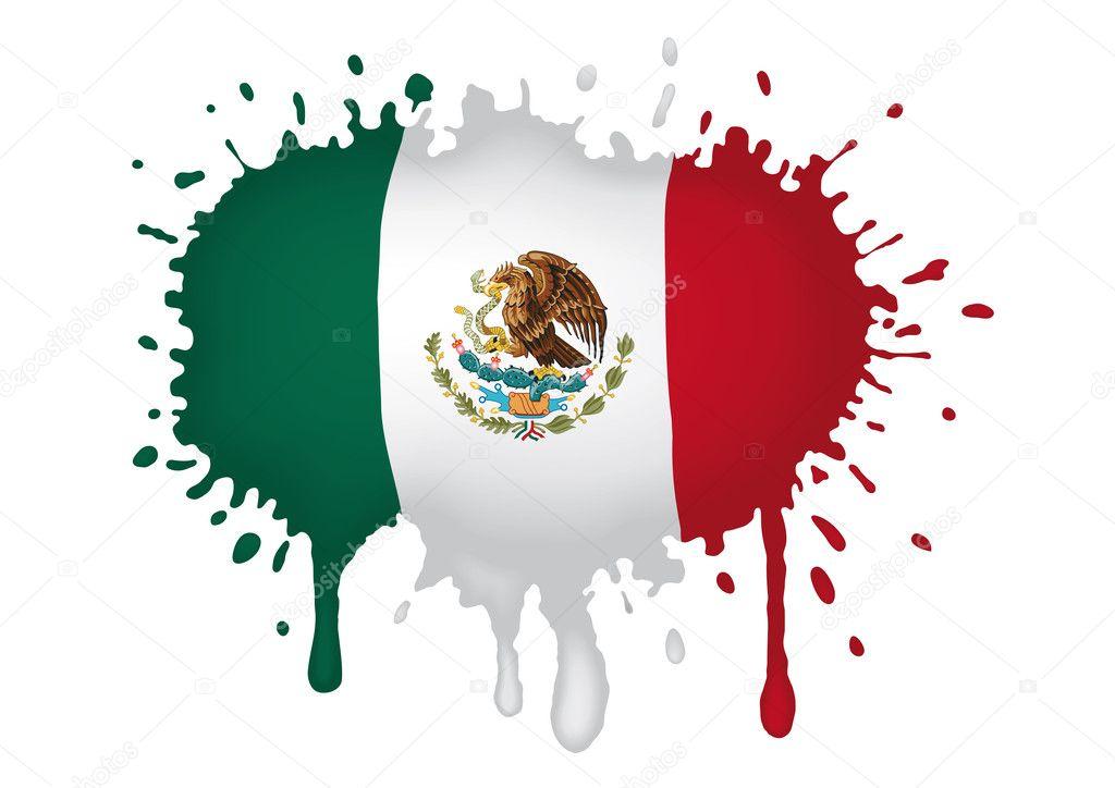 dibujo de bandera mexicana — Archivo Imágenes Vectoriales ...