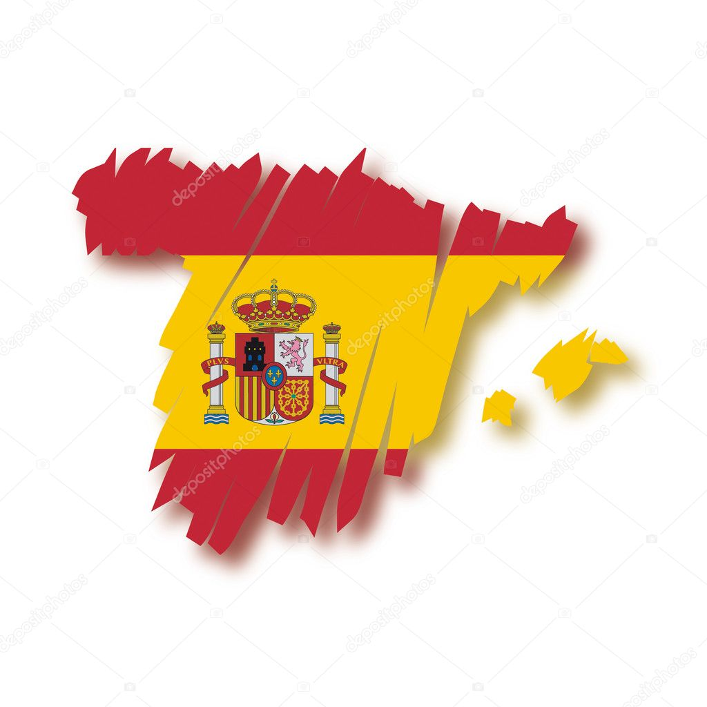 Map flag Spain