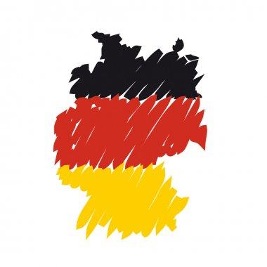 Flag map Germany