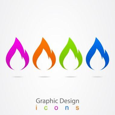 Graphic design logo flames.