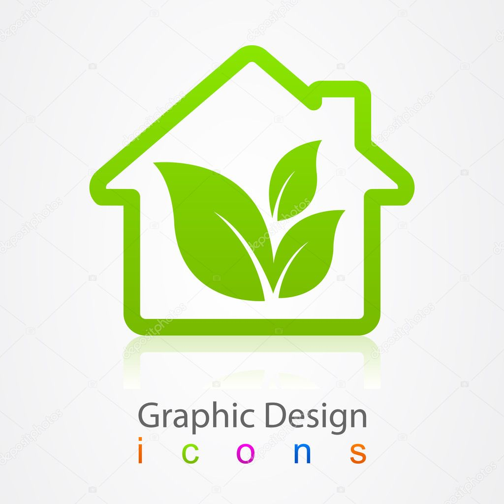 Graphic design house Icon.
