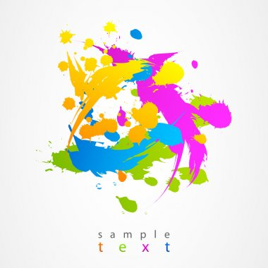 Background spots and splashes colorful vector