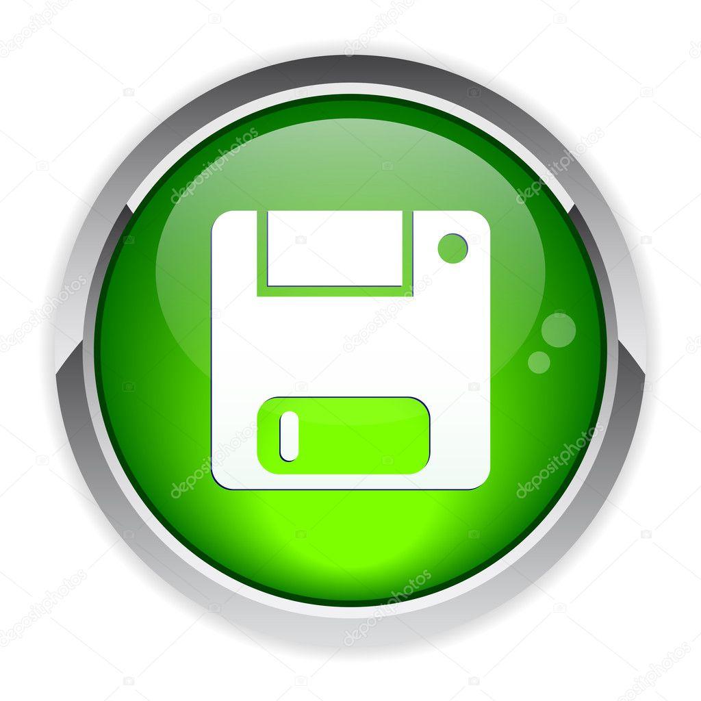 Bouton web disquette sauvegarde icon