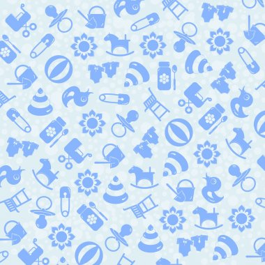 Baby toys icon background.