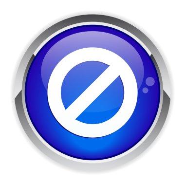 Prohibited button forbidden icon.