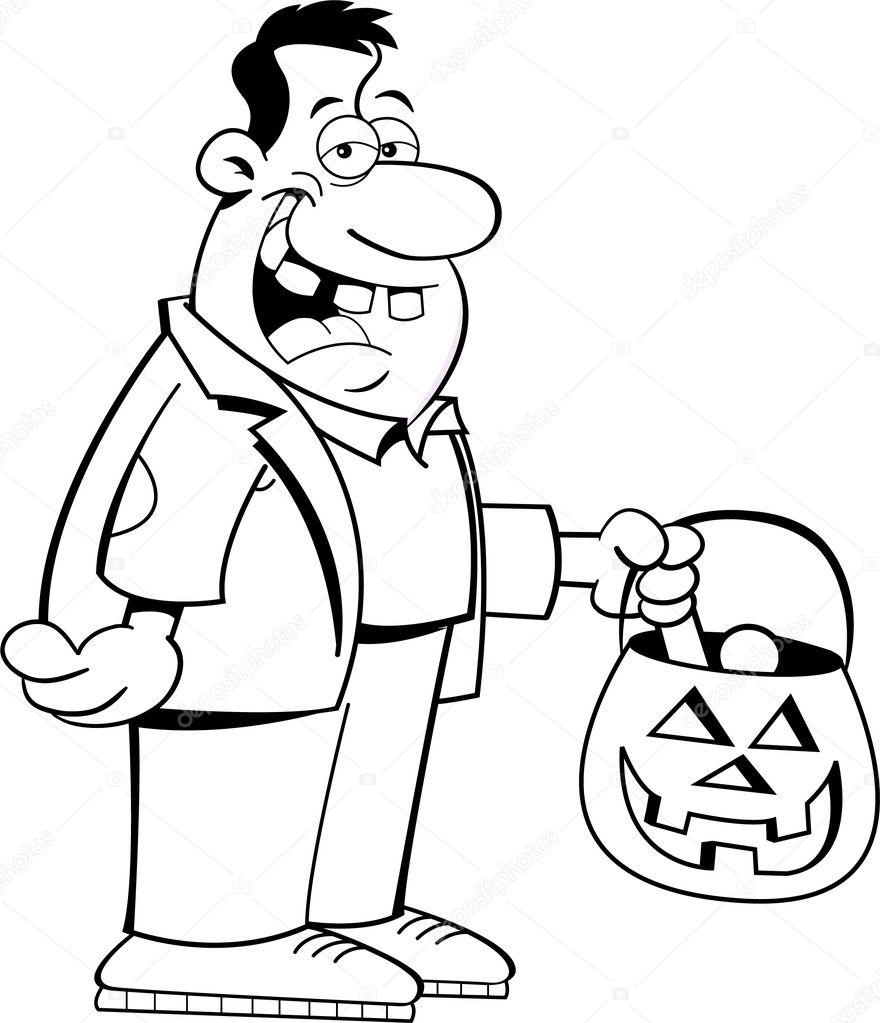 Zombie truco o trato — Archivo Imágenes Vectoriales © kenbenner ...