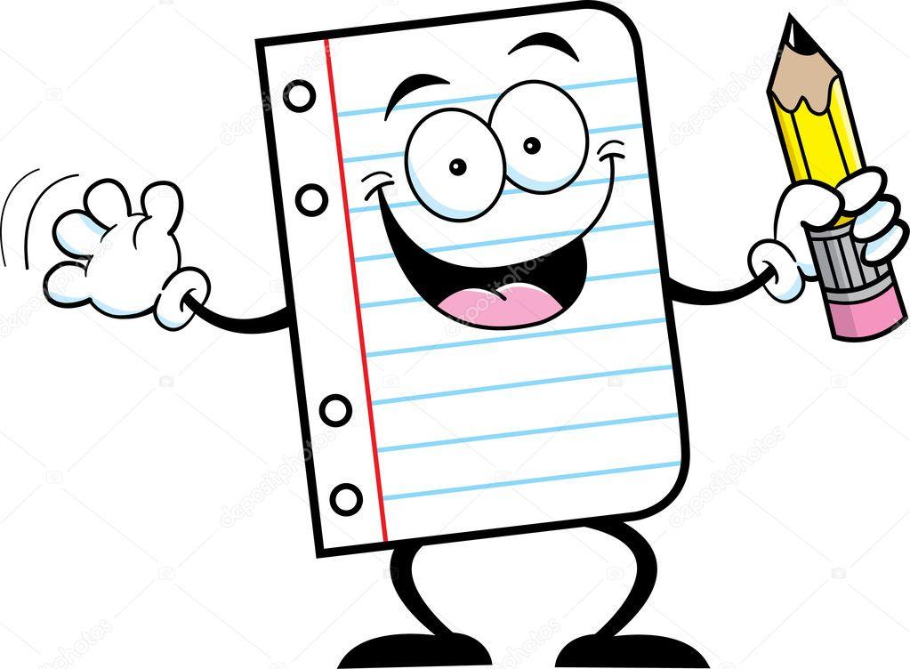 Papel de cuaderno con un l piz archivo im genes for Papel para dibujar