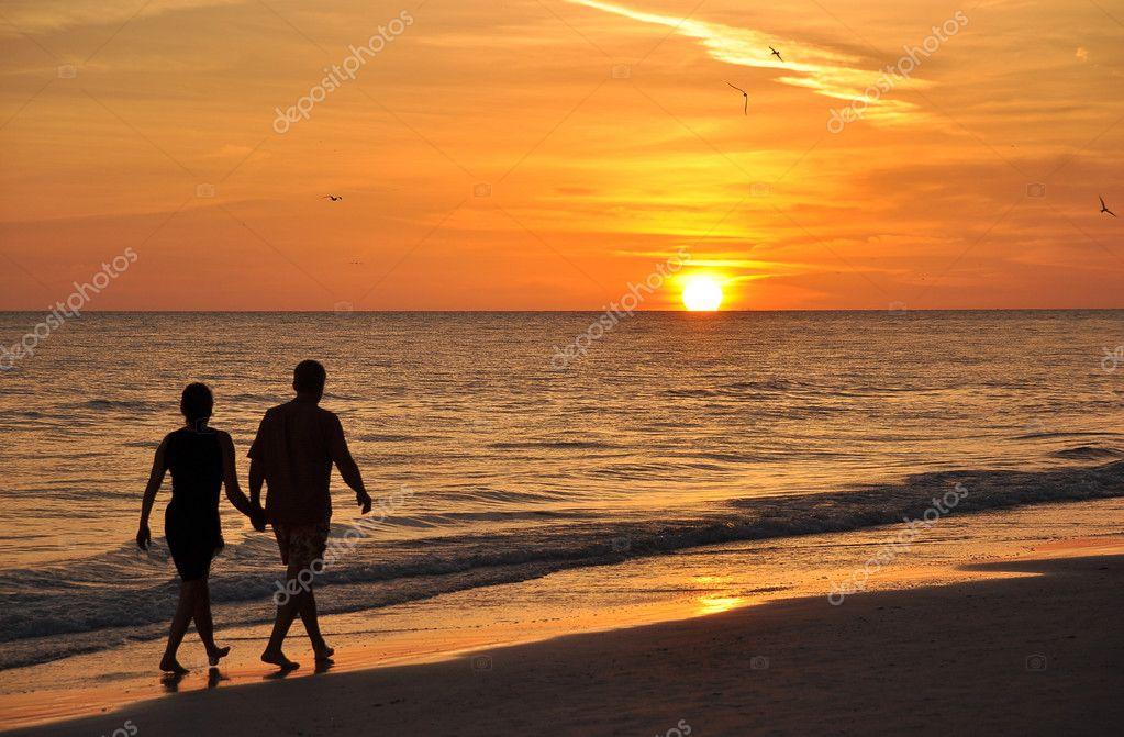 romantic beach walk stock photo kravka 11197790