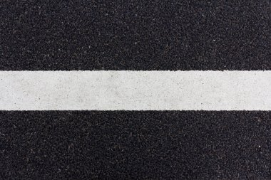 Line painted on the road