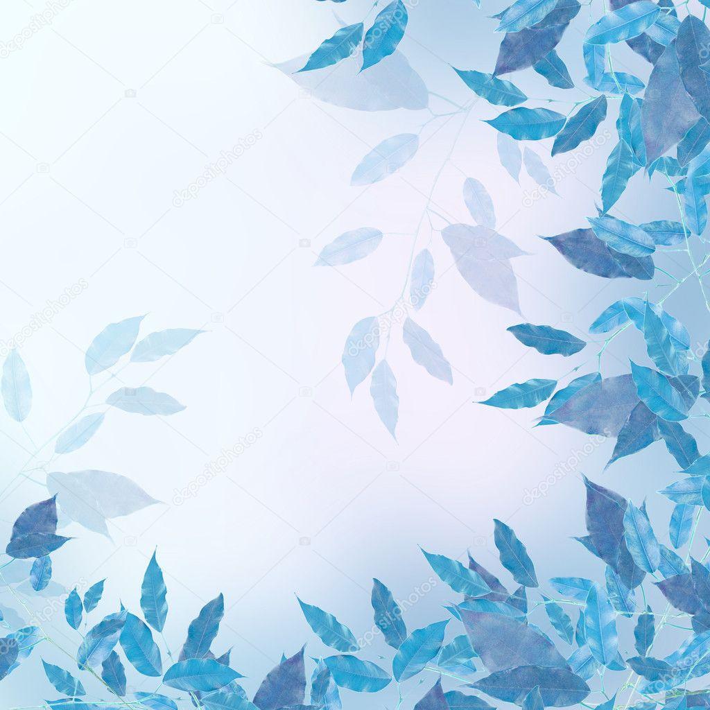 Blue leaves border