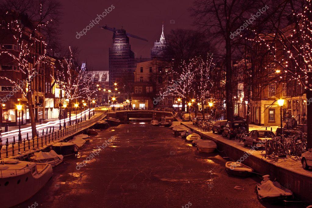 Weihnachten in Amsterdam Niederlande — Stockfoto © nilaya #11387095
