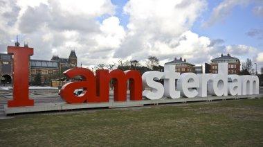 """Картина, постер, плакат, фотообои """"я амстердам """", артикул 11450274"""