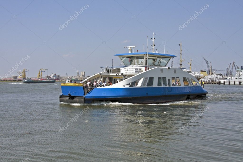 Tugboat on the IJsselmeer in the Netherlands