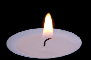 Candle flame, close up