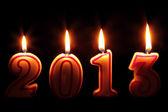 šťastný 2013 - hořící svíčky